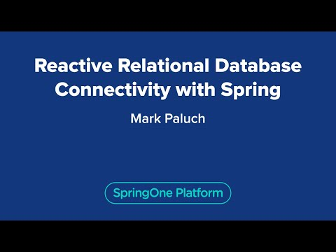 Reactive Relational Database Connectivity with Spring