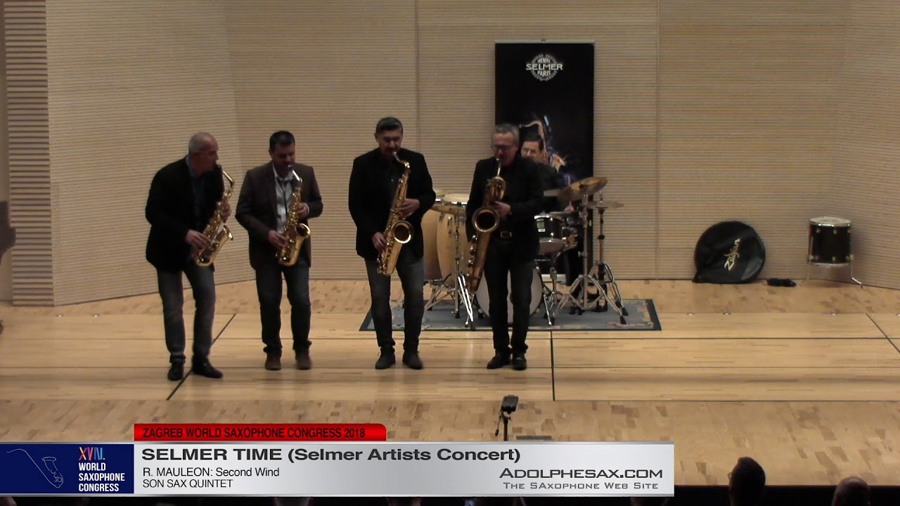 Second Wind by R  Mauleon   Son Sax   XVIII World Sax Congress 2018 #adolphesax
