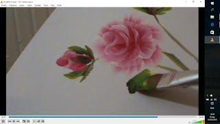 """Легко рисуем розы акрилом.Roses in acrylic, one stroke technique.(Короткое видео как рисовать цветы, листья, используя технику двойного мазка или .One Stroke Facebook, group """" Art Cafe""""..., 2015-12-07T18:53:21.000Z)"""