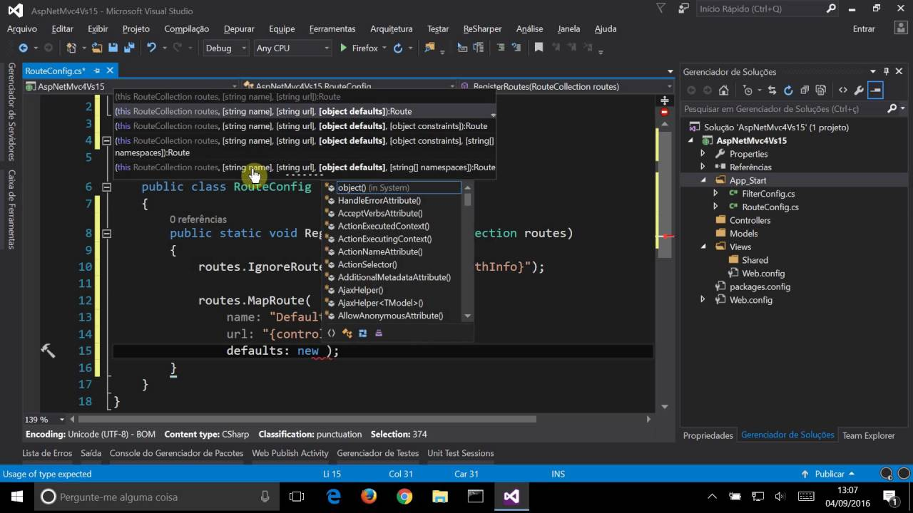 visual studio 2015 asp net mvc 4 youtube