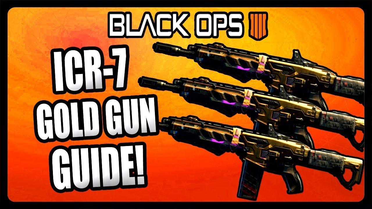 BEST ICR-7 GOLD GUN CLASS SETUP IN BLACK OPS 4! BO4 GOLD WEAPON GUIDE!