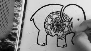 Elephant Mandala Time-lapse