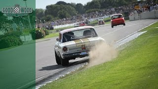 Ford Fairline kicks up dirt at Goodwood Revival