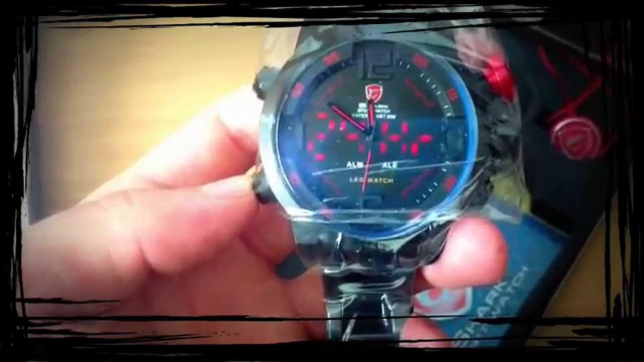 Panské hodinky Shark SportWatch - funkce a nastavení - YouTube d1bd3e37cd1