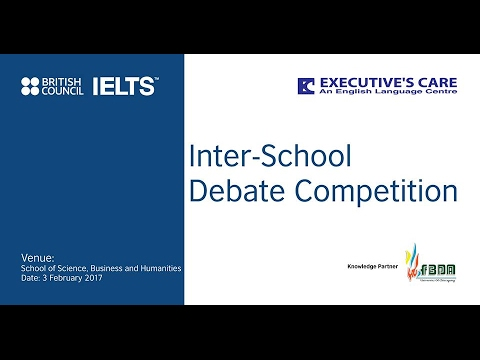 BRITISH COUNCIL IELTS, EXECUTIVE CARE, FBDA Inter school debate competition-2017