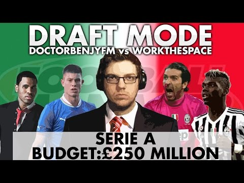 DRAFT MODE | w/WorkTheSpace | SERIE A | Football Manager 2016