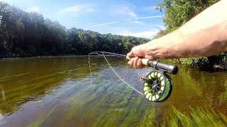 Fly Fishing Big Rivers for AGGRESSIVE Fish
