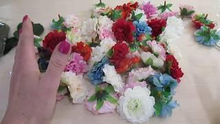 Обзор посылки из Китая (искусственные цветы).
