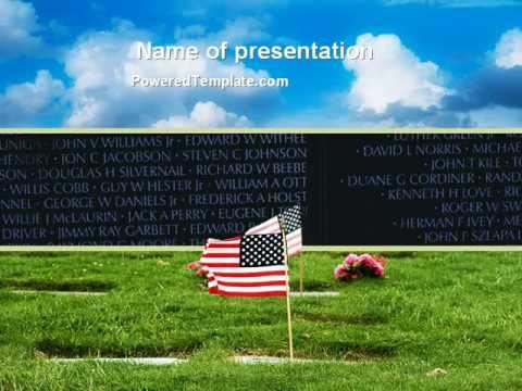 free american flag in memorial day powerpoint template by