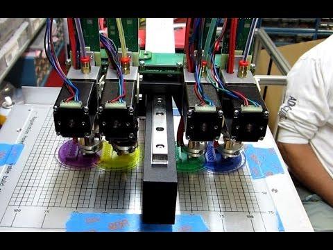 0 - Hyrel 3D: Hyrel System 30 3D-Drucker -  Update: Druck mit 4 Extruder