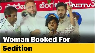A sedition case has been filed against woman in bengaluru after she raised pro-pakistan slogans at protest citizenship (amendment) act or caa. hy...