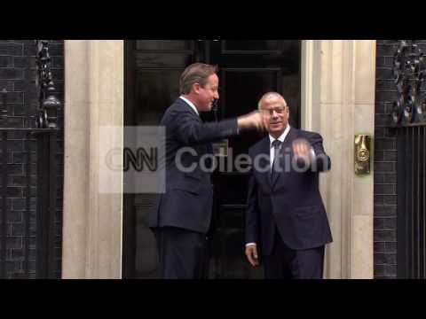 FILE: LIBYAN PM ZEIDAN MEETS BRITISH PM CAMERON