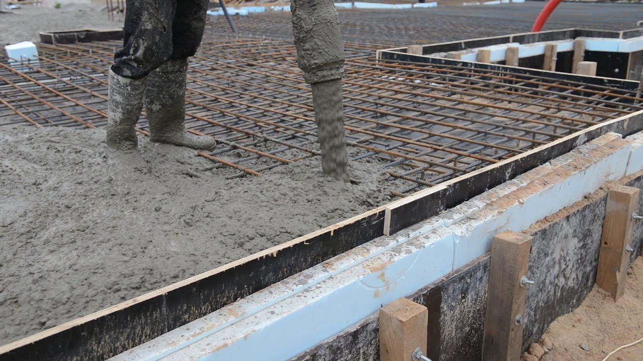 Укладка бетонной смеси строительство дома из монолитного керамзитобетона своими руками