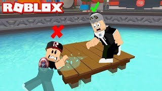 If you fall into the water, you lose! Time for Tiny Games - Roblox Ethan Gamer Minigames with Panda