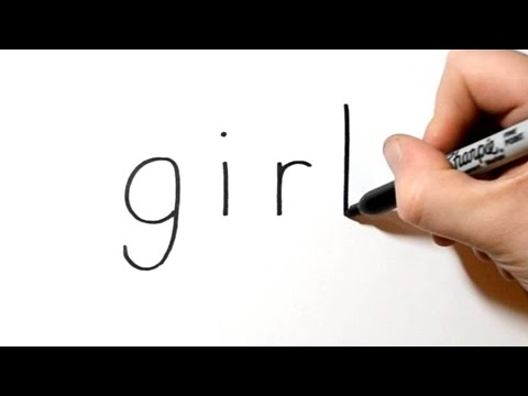 How To Turn Words Girl Into A Cartoon #7