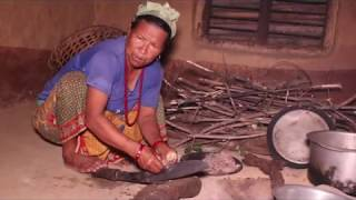 Cooking meat by steaming system ll Traditional living style in village