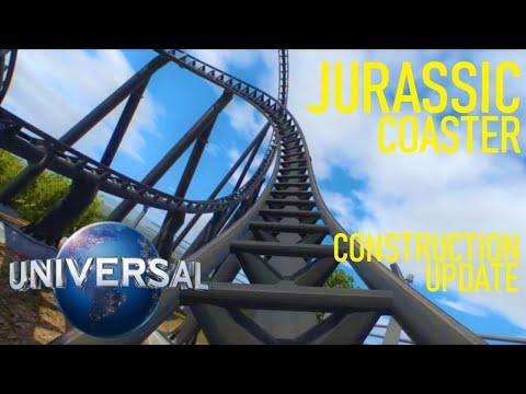 Jurassic Roller Coaster Construction