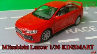 Mitsubishi lancer kinsmart 1 36