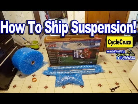 How To Ship Motorcycle Suspension  - The CHEAP and EASY WAY!