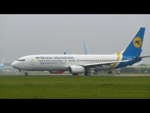 Ukraine International Airlines ► Boeing 737-800 ► Takeoff ✈ Amsterdam Airport Schiphol