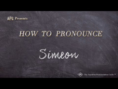How to Pronounce Simeon  |  Simeon Pronunciation