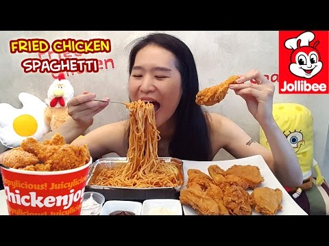 [MUKBANG] Jollibee Fried Chicken & Spaghetti!