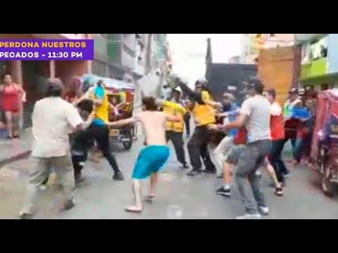 Violenta pelea entre mototaxistas y fiscalizadores de Independencia