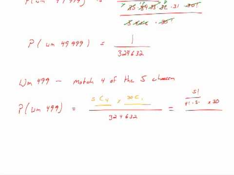 expected value in statistics lottery method