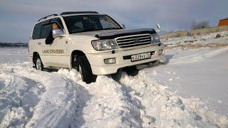 TOYOTA LAND CRUISER 100 тест драйв по снегу