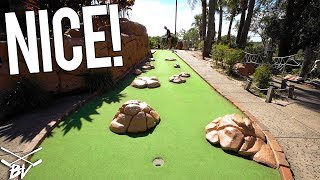 WE GOT A HOLE IN ONE AT A MINI GOLF CHALLENGE COURSE!