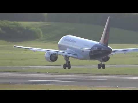 Brussels Airlines Airbus A319 OO-SSF Landing Hamburg Airport