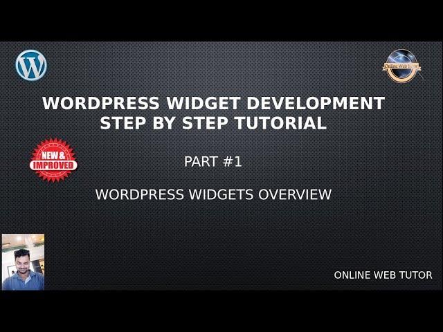 Wordpress Widget Development Beginner Tutorials Step by Step #1- Wordpress Widgets Overview