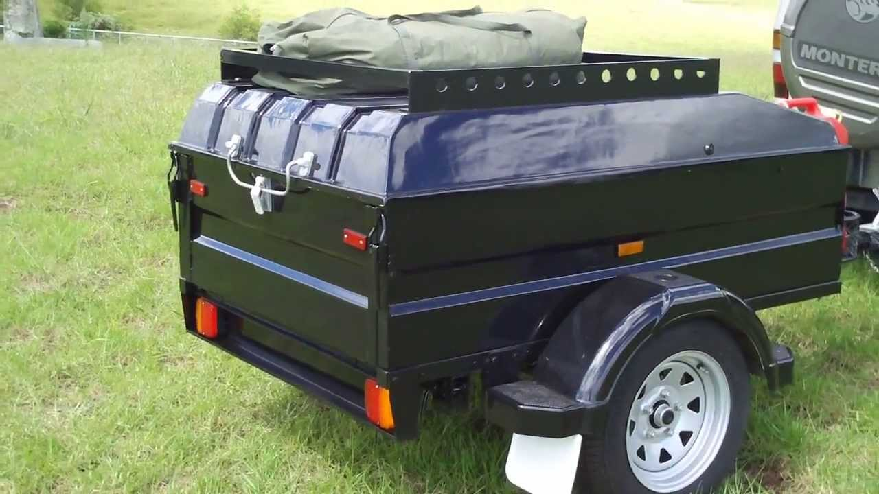 Summit Cargo Trailer Roof Rack - YouTube