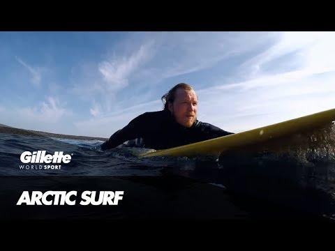 Surfing in the Ice Cold Waters of the Arctic | Gillette World Sport