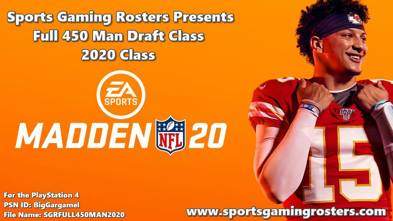 The 2020 NFL Draft Database - available and free