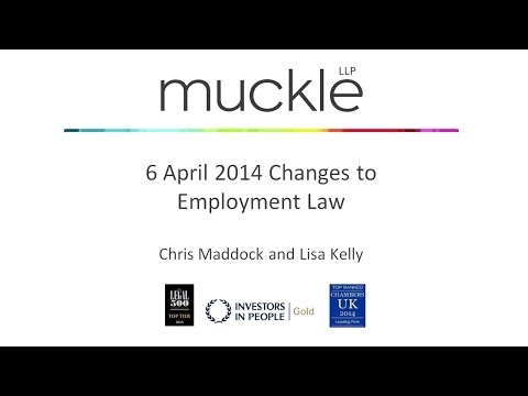 6 April Employment Law Changes 2014