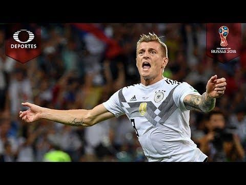Golazo de Toni Kroos   Alemania 2 - 1 Suecia   Mundial Rusia 2018