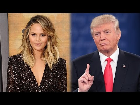 Chrissy Teigen FIRES BACK At Trump - Gives Twitter Fan Her Dress Just Because