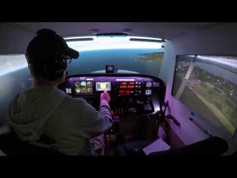 Scotland! Aberdeen to Leuchars (Cessna Home Cockpit Prepar3d v3)