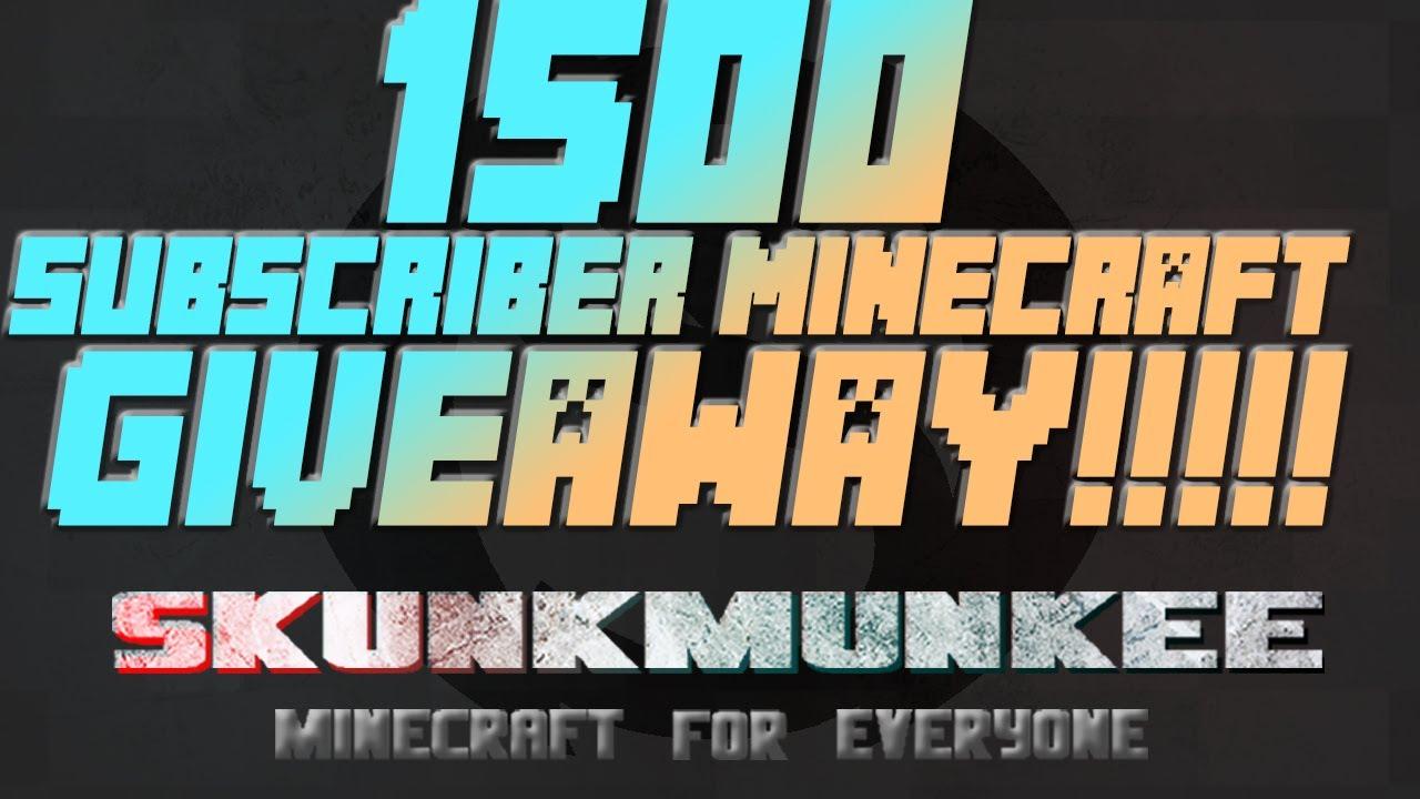 1500 Subscriber Giveaway