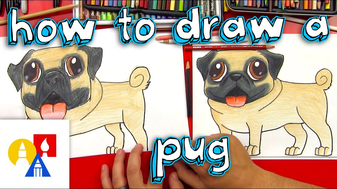 how to draw a pug youtube