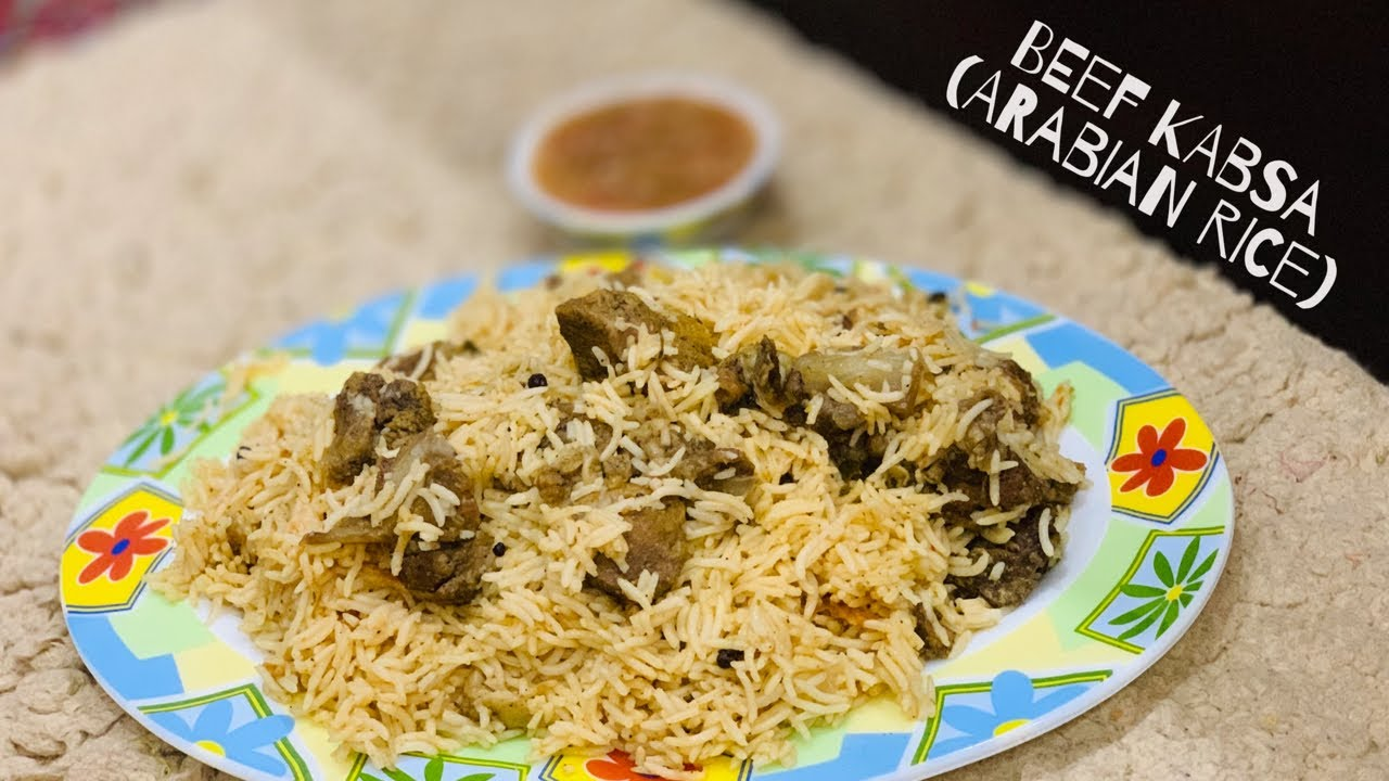 Beef Kabsa Arab Meat Rice Meat Kabsa Simple And Easy Kabsa Recipe Faaz Creations By Afafiyas Youtube