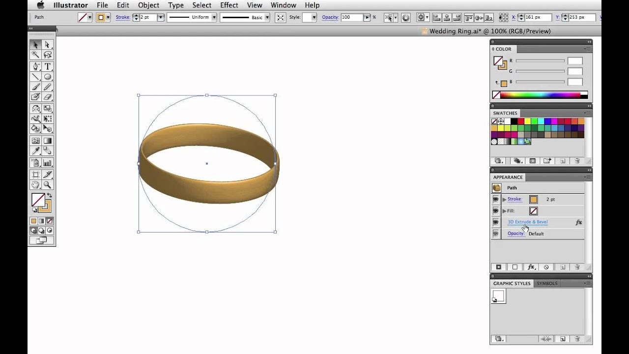 Vector Tuts Quick Tip Make A Wedding Ring Or Wristband