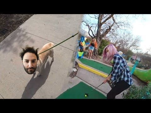 Walking the Dog, Homeless Makeover & Mini Golf Date w/ Korean Waifu
