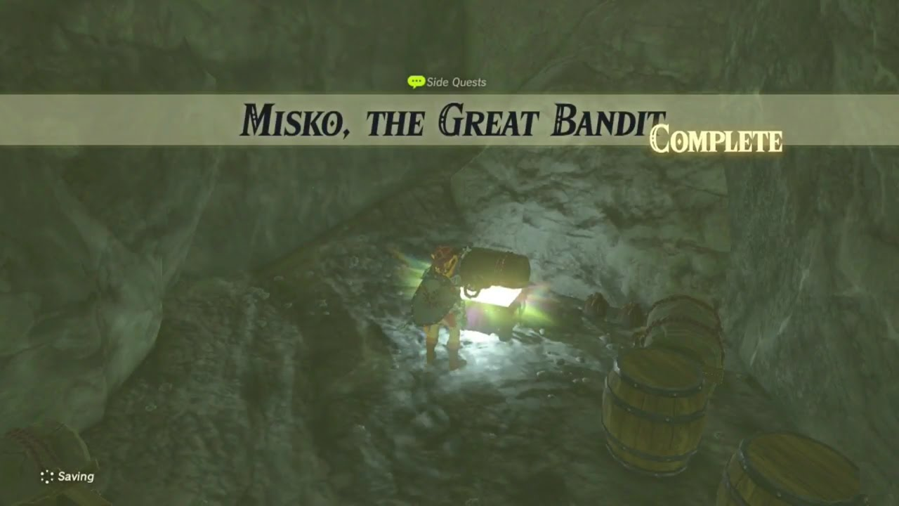 Misko The Great Bandit Zelda >> Zelda: Breath of the Wild | Misko, the Great Bandit Side Quest - Dueling Peaks Tower Region ...