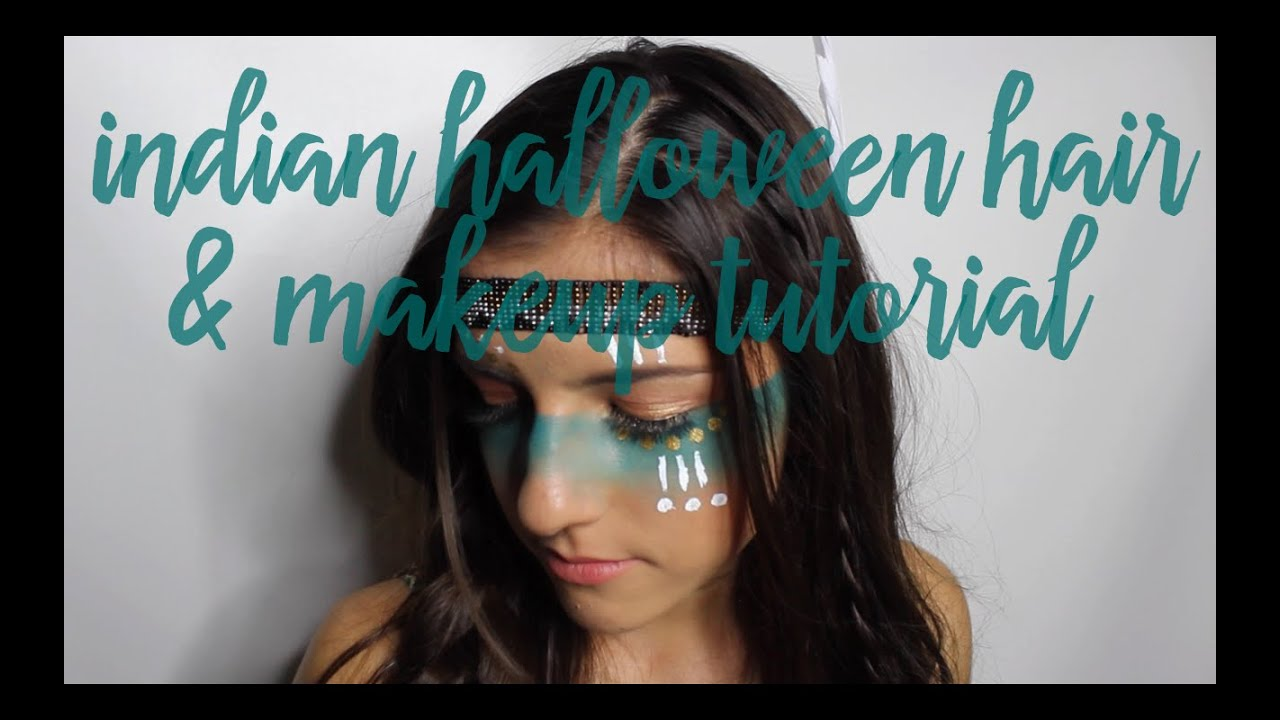 Tribal Indian Halloween Hair & Makeup Tutorial | Girly Ass Vlog ...