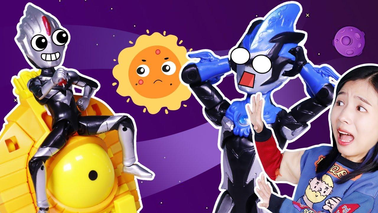 暗黑歐布奧特曼要給太陽降溫?探索太陽黑子的秘密,羅索布魯出擊!Solar Flare&Sunspot #奥特学院 75丨阿哦玩具 ao toys