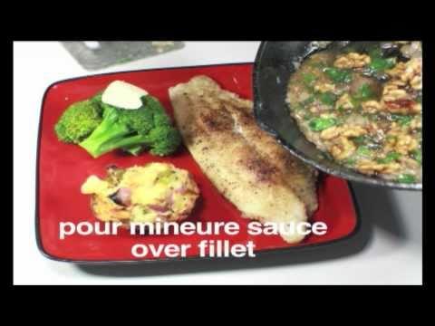 Catfish With Walnut Meunire Sauce