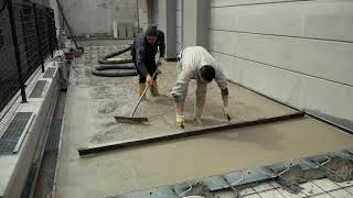 Floortech Prerit: pavimentazioni in calcestruzzo architettonico per esterno in sasso lavato