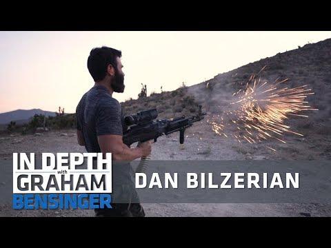 Dan Bilzerian takes reporter on high speed drive, gun shooting